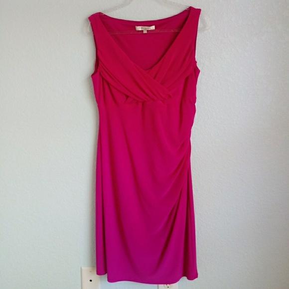 Evan Picone Dresses & Skirts - EVAN PICONE | Fushia Pink Sleeveless Dress
